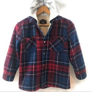 Freedom Foundry Boys Youth Hooded Flannel Shirt